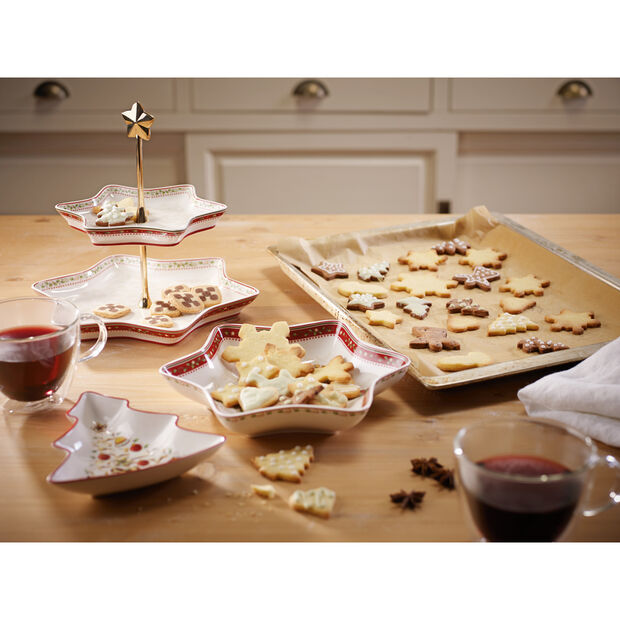 Winter Bakery Delight Two Tier Server : Holly 13.25 in, , large