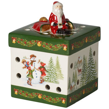 Christmas Toys Small Square Gift Box : Santa Claus 3.5x5 in