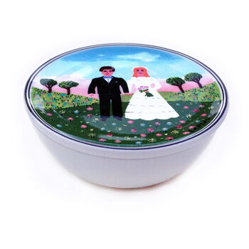 Design Naif Wedding Trinket Box 4 1/4 in