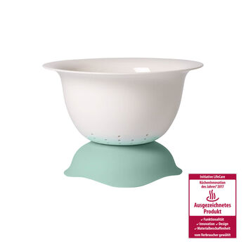 Clever Cooking Strainer/Serving Bowl : Green 11.5 in