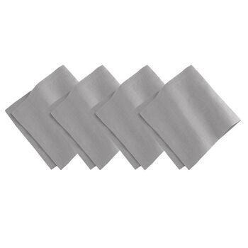 Elrene La Classica Napkin:Set of 4 Dark Grey 21 x 21 in