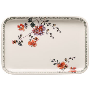 Artesano Provencal Verdure Baking Dishes Rectangular Serving Plate/Lid 12.5 in