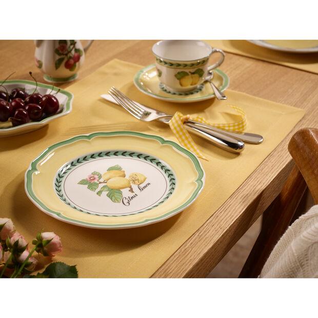 French Garden Valence Lemon Salad Plate 8 1/4 in, , large