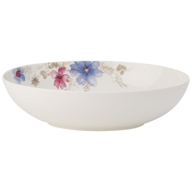 Mariefleur Grey Oval Bowl 12 1/2 in, , large
