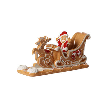 Winter Bakery Decoration Gingerbread Sleigh 9x3x4 in