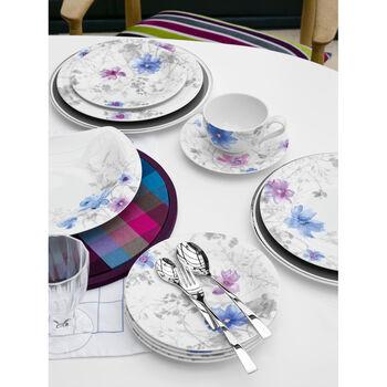 Mariefleur Grey Oval Dinner Plate 11 1/2 in