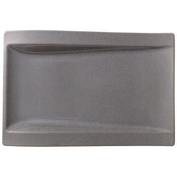 NewWave Stone Large Rectangular Dinner Plate 15.5x10 in