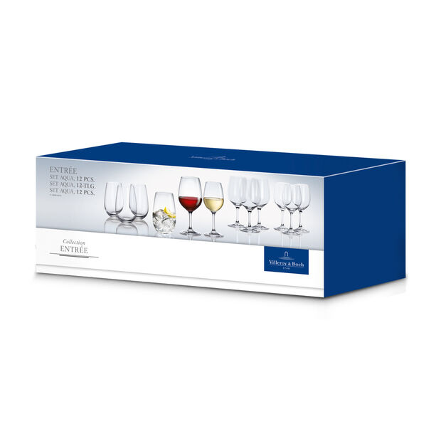 Entrée 12 Piece Crystal Glass Wine Set, , large
