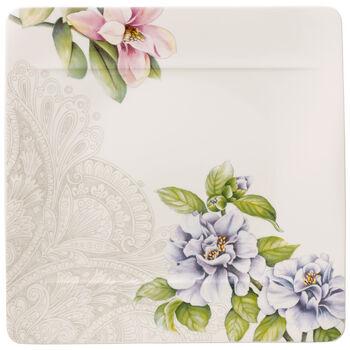 Quinsai Garden Square Dinner Plate : Camellia 10.5 in