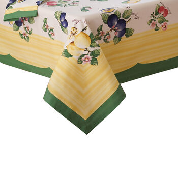 "French Garden 68x126"" Oblong Tablecloth"