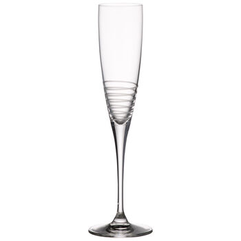 Maxima Decorated Champagne Flute, Spiral 10 1/2 in