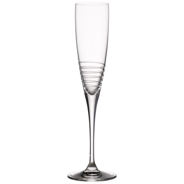Maxima Decorated Champagne Flute, Spiral 10 1/2 in, , large