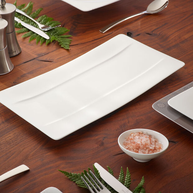 Modern Grace Serving Plate 13 3/4 x 7 in, , large