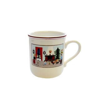 Design Naif Christmas Mug, 10 oz – Limited Edition, Folk Art by Listed Artist
