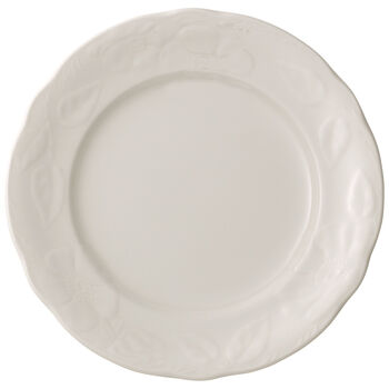Rose Sauvage Blanche Dinner Plate 10.25 in