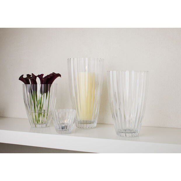 Light & Flowers Clear Vase, Hyacinth 7 in, , large