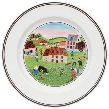 Design Naif Appetizer/Dessert Plate #2 - Spring Morn 6 3/4 in