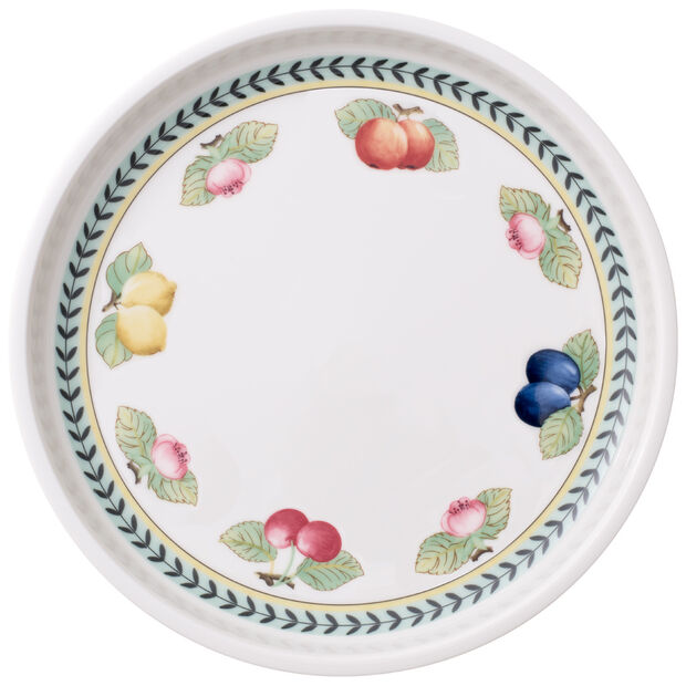 French Garden Baking Round Serving Plate/Lid 10.25 in, , large