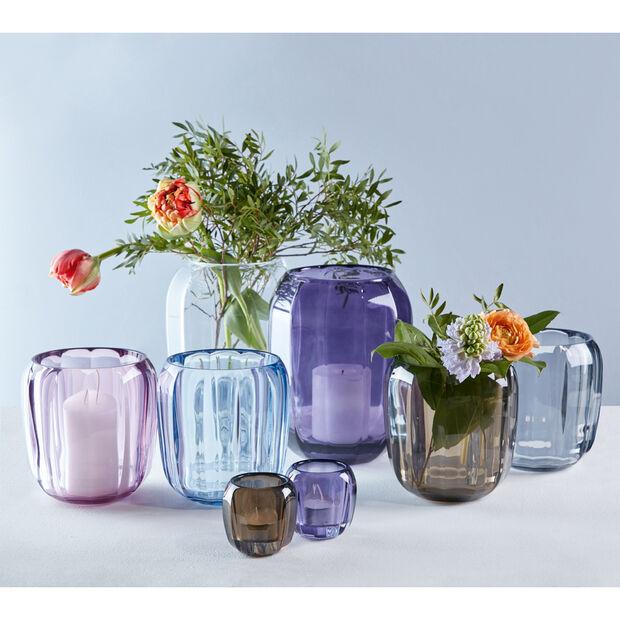 Coloured DeLight Hurricane Lamp/Small Vase : Winter Sky 6 in, , large