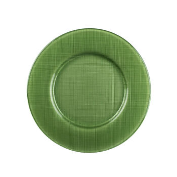 Verona Glass Charger, Green