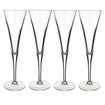 Purismo Champagne Flutes, Set of 4