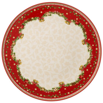 Winter Bakery Delight Cake Plate : Holly 11.75 in