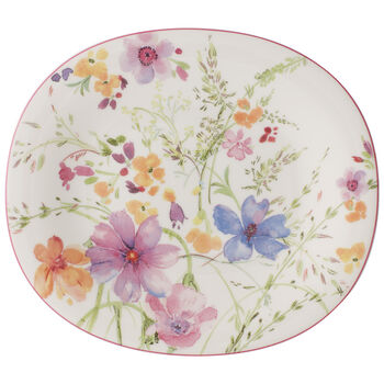 Mariefleur Oval Salad Plate 9 in