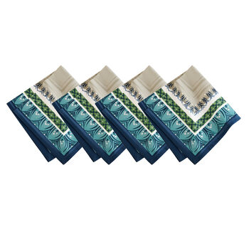 Elrene Casale Blu Napkin:Set of 4 21 x 21 in
