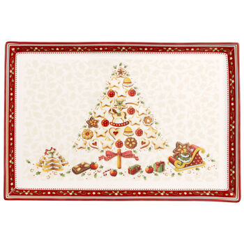 Winter Bakery Delight Large Cake Plate 15x10.5 in