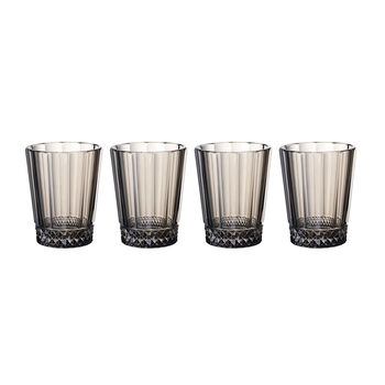 Opera Smoke Water/Juice Glass : Set of 4 4.25 in/10.5 oz