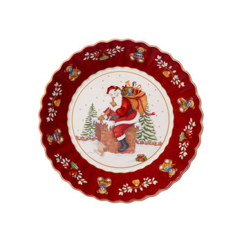 Toy's Fantasy Large Bowl : Santa on Rooftop 9.5x9.75 in