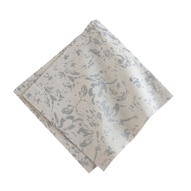 Elrene Metallic Printed Napkin:Set 4 Dove Grey 21 x 21 in, , large