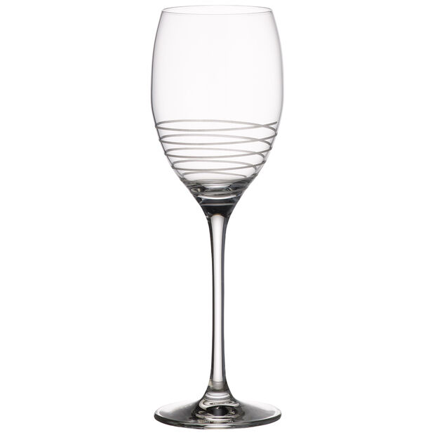 Maxima Decorated White Wine Glass, Spiral 9 1/2 in, , large