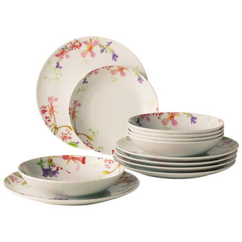 Flower Meadow 12 Piece Dinner Set
