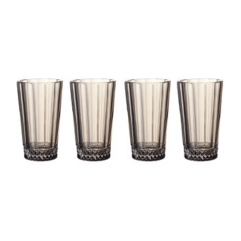 Opera Smoke Tall Glass : Set of 4 5.5 in/11.5 oz
