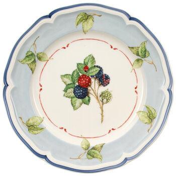 Cottage Blue Rim/Leaf Salad Plate 8 1/4 in