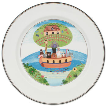 Design Naif Dinner Plate #2 - Noah's Ark 10 1/2 in