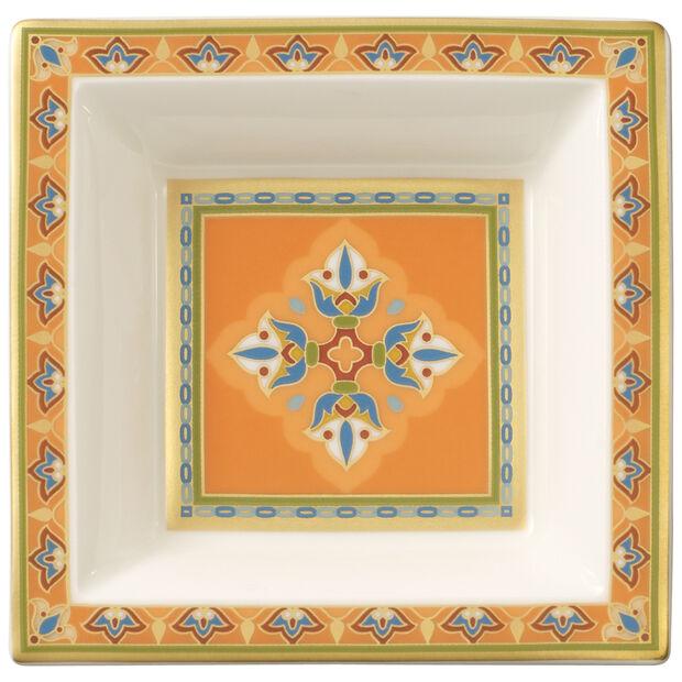 Samarkand Mandarin Square Bowl 4 x 4 in, , large