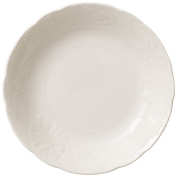 Rose Sauvage Blanche Rim Soup 7.75 in