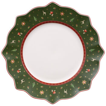 Toy's Delight Dinner Plate, Green