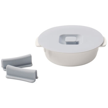 Clever Cooking Round Baker & Silicone Lid/Handles 6 in