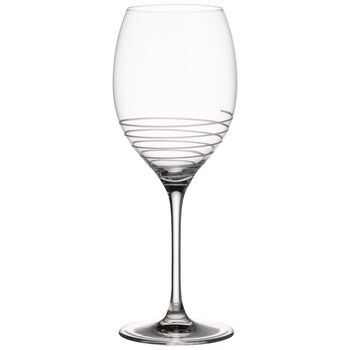 Maxima Decorated Bordeaux Spiral Goblet 10 in
