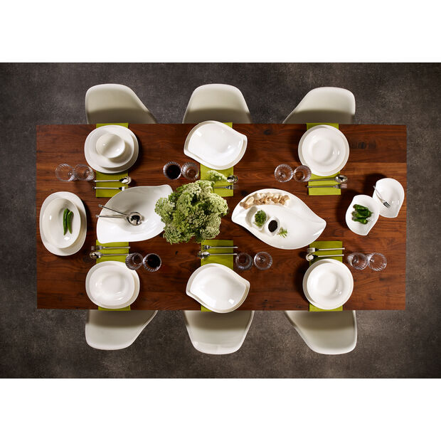 New Cottage Special Serve Salad Shallow (Flat) Bowl 13 1/4 in, , large