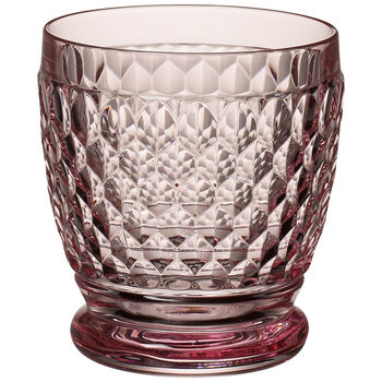 Boston Colored Double Old Fashioned-Rose : Set of 4 11 oz