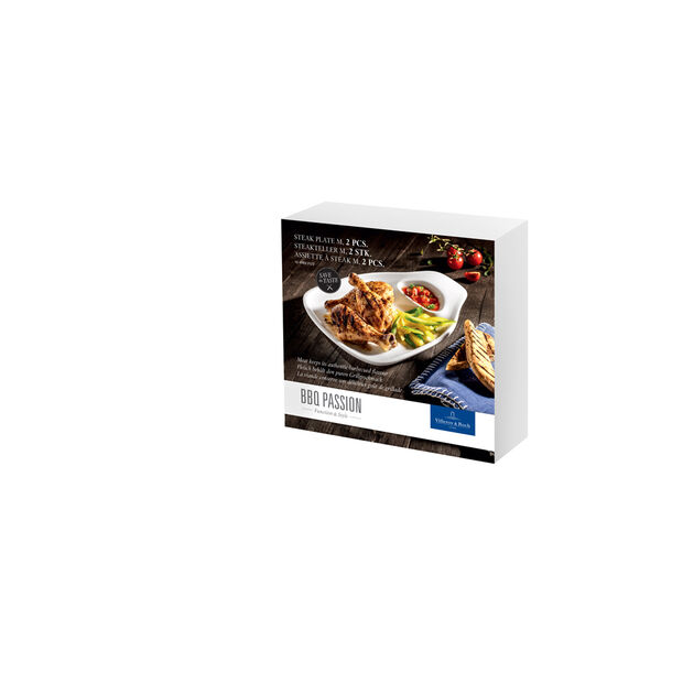 BBQ Passion Steak Plate : Set of 2, , large