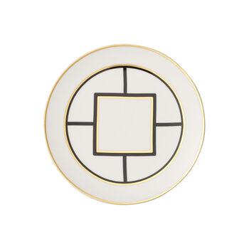 MetroChic Salad Plate : White Rim 8.5 in