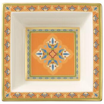 Samarkand Mandarin Square Bowl 4 x 4 in