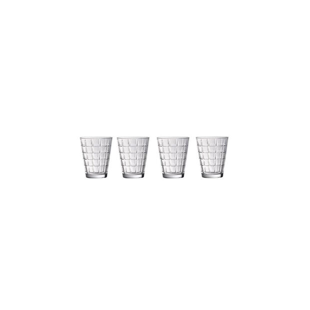 Dressed Up Crystal Glass Tumblers - Square : Set of 4, , large