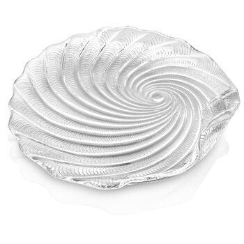 St Tropez Round Platter: Clear 13.75in