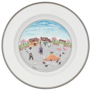 Design Naif Soup Bowl #3 - Country Yard 8 1/4 in
